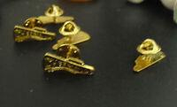 Lot of 5 Gold Tone Metal Cheerleader Pin Backs NOS