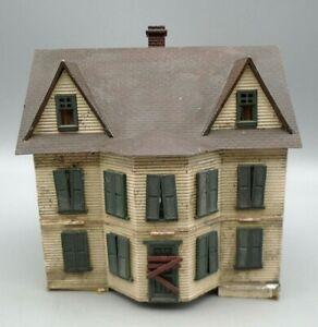 Vintage Model Railroad Abandoned Two Story House Accessory HO Scale