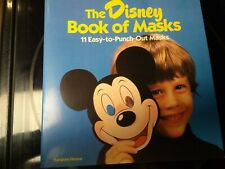 New The Disney Book of Masks 11 punch out masks 1985