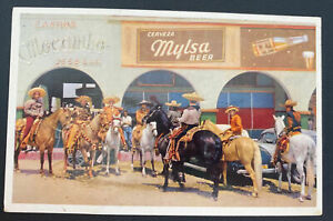 Mint Mexico Color Picture Postcard Street Scene Tijuana Charro Mylsa Beer