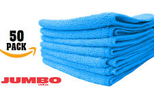50 LARGE BLUE Microfiber cleaning Cloths Towels Rag Car Polishing Detailing