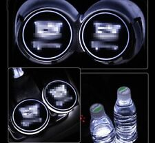 1Pair Colorful for Cadillac LED Car Cup Holder Pad Mat 2X Auto Atmosphere Lights