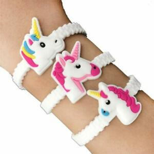 6 Unicorn Adjustable Bracelets - Pinata Toy Loot/Party Bag Fillers Wedding/Kids