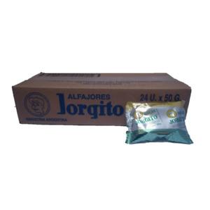Alfajor Jorgito Blanco Dulce de Leche w/ Sugar Coating Wholesale Box 24 Count