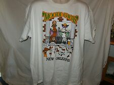 """NEW """"Moodi Gras"""" Show us Your Udders NEW ORLEANS  T SHIRT Mens XL"""
