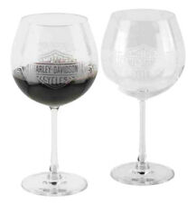 Harley-Davidson® Winter Tire Tread 20 oz Clear Wine Glass Set of 2 HDX-98711