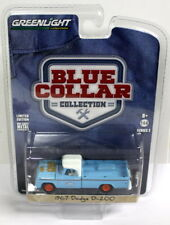 Greenlight 1/64 Scale Blue Collar 1967 Dodge D-200 Pick-up Diecast model car