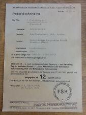 Rarität: Freigabebescheinigung JAMES BOND 007 GOLDFINGER
