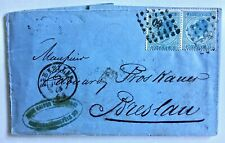 Belgium commercial cover 1868 Brussels to Breslau Prussia