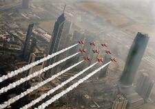 RAF Red Arrows Flying Al Hamra Tower Kuwait City Reprint Photo 12x8 inch