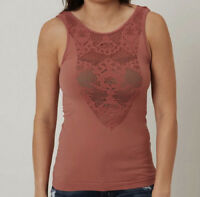 NEW Buckle Seamless BKE Laser Cut Tank Top Rose Free People Sz XS/S-M/L $43.71