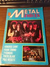 Metal Forces Magazine Issue 10 1985 UK Armored Saint, Tokyo Blade