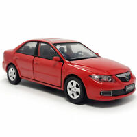 1:32 Mazda 6 Model Car Diecast Toy Vehicle Collection w/ Light Red Kids Gift