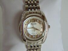 Bulova 96P175 Women's 27mm Stainless Steel Diamond MOP Dial Watch L9
