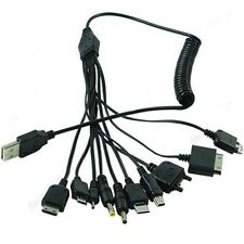 10in1 Useful Multi USB Charger Phone Cable for iPhone 4 Nokia Samsung MP3