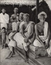 1928 Original INDIA Malabar Coast Nayar Family Hindu Sarong Photo By HURLIMANN