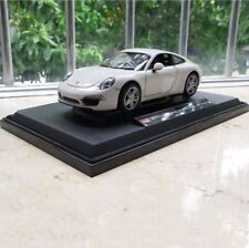 Porsche 911 Model Cars 1:24 Toys Open two doors Collection Alloy Diecast White