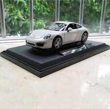 Porsche 911 Model Cars 1:24 Toys Open two doors Collection White Alloy Diecast