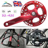 IXF 104bcd 32-42T MTB Bike Narrow Wide Crankset Crank Chainring 9/16in Pedeal
