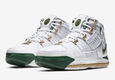 2019 Nike Zoom Lebron 3 Retro SVSM Home SZ 10 White Green Gold AO2434-102