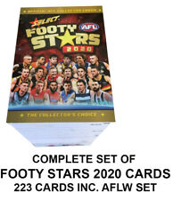 2020 SELECT AFL FOOTY STARS COMPLETE SET OF 223 CARDS INC AFLW