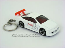 Custom Keychain Opel Calibra Coca Cola White