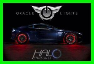 RED LED Wheel Lights Rim Lights Rings by ORACLE (Set of 4) for DODGE MODELS 3