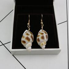 Dangle Earring Metal Conch Shape Design Ocean Inspo Drop Earring Seashells