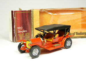 Matchbox Yesteryear Y-9 1/48 1912 Simplex Diecast Model Car