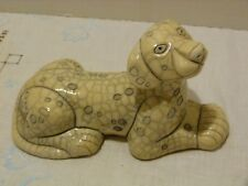 The Fenix Raku Pottery Large Dalmatian Dog Figurine #2 Hand Made in South Africa