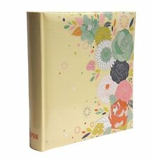"Vintage Flower Large 6"" x 4'' 200 Photos Slip in Photo Album with Memo Area- MF2"