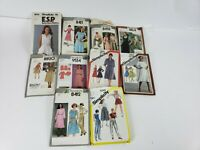 Lot 10 Vtg Womens SEWING PATTERNS Simplicity Sz 6-16 Mostly 80's