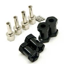 Aluminum Alloy 12mm Wheel Hub Hex Drive Adaptor +20mm Offset SCX10 WRAITH Black
