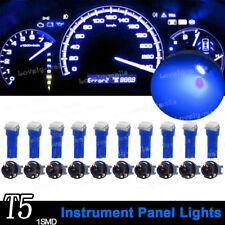 Instrument Panel LED Light Bulbs PC74 T5 Twist Lock Sockets Blue KIT For Ford