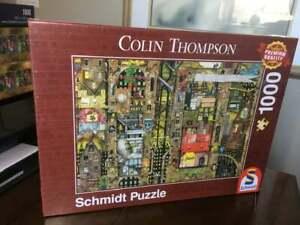VVHTF NEW Schmidt Colin Thompson FANSTASTIC TOWNSCAPE 1000 piece Jigsaw Puzzle