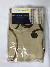 """Sears Colormate Grommet Panel 48"""" x 63"""" Summit Print  Natural"""