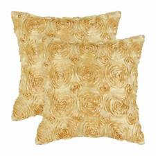 Pack of 2 Cushion Covers Pillow Shell Home Decor Stereo Roses Floral 50 x 50