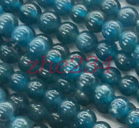 New 6mm blue ink Apatite Round Gemstones Loose Beads 15 inch