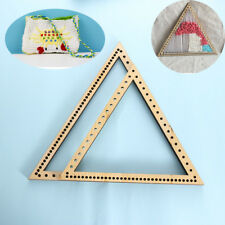 Hanging Decoration Craft DIY Woven Tools Wooden Triangle Weaving Loom Knitting