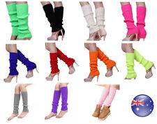 Fashion Ladies Knitted Leg Warmers Legging Socks Costume Dance Disco 80s Party