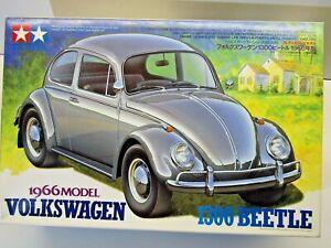 Tamiya 1:24 Scale 1966 Volkswagen 1300 Beetle Model Kit - New - Kit # 24136*1800