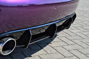 Cup Diffusor Ansatz für Audi A4 B8 Typ 8K Heck Stoßstange S4 S-Line Sport INE