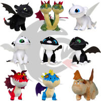 Official How to Train Your Dragon 20.5CM Toothless Light Fury Plush Soft Toys