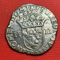#1251 - Henri IV Quart d'écu (2e type) - 1606 pour Rennes QUALITE - FACTURE