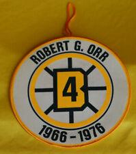 """Bobby Orr #4 Boston Bruins 1966-76 Original Licensed Retirement Banner 8"""" Round"""