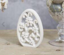 Wooden Egg Cutout Design Easter Natural White Wash H17cm x W11.5cm x D2cm