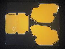 Number Backgrounds Kawasaki KX 125 250 500 1988 YELLOW KX125 KX250 KX500 Decals