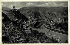 Cochem Kochem Rheinland-Pfalz AK 1938 Fluß Mosel Schiff Weinberge Stadt Häuser