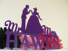 Our Stunning Cinderella /prince charming Mr & Mrs Silhouette Wedding Cake Topper