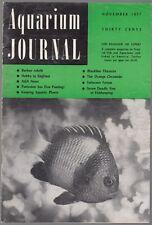 [34633] AQUARIUM JOURNAL MAGAZINE NOVEMBER 1957 VOL. 28, No. 11